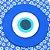 Placa Redonda Olho Grego Azul Grande - Imagem 2