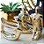Kit Esculturas em Porcelana Yoga Dourado - Imagem 2