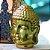 Cabeça de Buda Decorativo em Cerâmica Dourada - Imagem 2