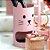 Porta-Lápis em Aço Dois Andares Gata Rosa - Imagem 2