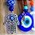 Chaveiro Hamsa de Metal Azul - Imagem 2