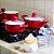 Jogo de Panelas em Alumínio com Revestimento Cerâmica 5 Peças com Leiteira Vermelho - Imagem 2