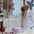 Kit de Banheiro em Vidro Flor de Lis 3 Peças - Imagem 2