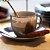 Conjunto 6 Xícaras para Café com Pires de Porcelana Luminus Prata - Imagem 2