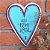 Placa Tag Coração Aqui Tem Amor - Imagem 2