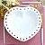 Prato de Cerâmica Coração Vazado Branco - Imagem 2