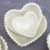 Kit 3 Bowls de Cerâmica Coração Bolinhas Branco - Imagem 2