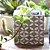 Vaso de Cimento Quadrado Decorado Florzinha - Imagem 2