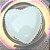 Prato de Cerâmica Coração Bolinhas Branco - Imagem 2