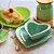 Jogo de Prato e Bowl de Cerâmica Coração Verde - Imagem 2