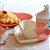 Jogo de Prato e Bowl de Cerâmica Coração Branco e Rosa - Imagem 2