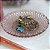 Pratinho de Vidro Decorado Rosa - Imagem 2