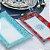 Kit 2 Travessas Retangulares Rasas de Vidro Estampadas Flores Azul e Coral - Imagem 2