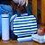 Lancheira Térmica Diária Listrada Azul - Imagem 3