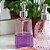 Porta Sabonete Líquido em Vidro Listras Elegantes Rosa - Imagem 2