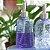 Porta Sabonete Liquído em Vidro Dobras Sofisticadas Azul - Imagem 2