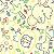 Flanela Sarja Infantil 80 Plus Dedeu Amarelo - Largura 80 cm - A Metro - 100X80 cm - Imagem 1