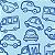 Flanela Sarja Infantil 80 Plus Mack Azul - Largura 80 cm - A Metro - 100X80 cm - Imagem 1