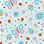 Flanela Sarja Infantil 80 Plus Kitty Verde - Largura 80 cm - A Metro - 100X80 cm - Imagem 1