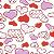 Flanela Sarja Infantil 80 Plus Love Branco - Largura 80 cm - A Metro - 100X80 cm - Imagem 1
