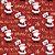 Tecido Tricoline 100% Algodão Natal Comum - 5065-01 - Imagem 1