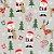Tecido Tricoline 100% Algodão Natal Comum - 7122-01 - Imagem 1