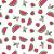 Tecido Tricoline Melancia Fundo Branco 100% Algodão - COR 71 - 1,00x1,50m - Imagem 1