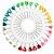 Disco de Alfinete Cabeça de Plástico 55mm - 30 Alfinetes - Coração - Imagem 1