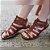 Sandália retrô em couro gladiadora 12176-5 - Imagem 6