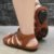 Sandália retrô em couro gladiadora 12176-5 - Imagem 4