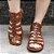 Sandália retrô em couro gladiadora 12176-5 - Imagem 2