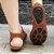 Sandália retrô em couro gladiadora 12176-5 - Imagem 5