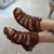 Sandália retrô em couro gladiadora 12176-5 - Imagem 7