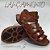 Sandália retrô em couro gladiadora 12176-5 - Imagem 8