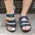 Sandália retrô Conforto em couro/conforto 1050 - Imagem 2