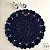 Jogo Sousplat Heart Azul (2 sousplats + 1 centro de mesa + brinde) - Imagem 1