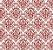 Papel de Parede Vinil Adesivo Arabesco Vintage Vermelho - Imagem 2