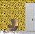Papel de Parede Vinil Adesivo Borboletas Fundo Mostarda - Imagem 1