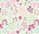 Papel de Parede Vinil Adesivo Floral Rabiscado - Imagem 3