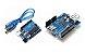 Kit Placa Uno R3 Chip + Rede W5100 + Cabo Usb Compatível - Imagem 1