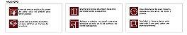 Papel De Parede Energy 10x0.52m Grafismo Art deco Branco/Vermelho - Imagem 2