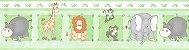 Papel De Parede Bambino's Faixa Zoo Verde 8502 - Imagem 1