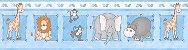 Papel De Parede Bambino's Faixa Zoo Azul 8503 - Imagem 1