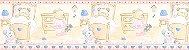 Papel De Parede Bambino's Faixa Urso Rosa e Azul 5501 - Imagem 1