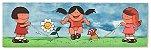 Quadro Pintura Artística 111 - Álvaro Borges filho acrílica sobre tela 30 X 100 Pulando corda Painel - Imagem 1