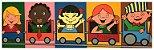 Quadro Pintura Artística 114 - Álvaro Borges filho acrílica sobre tela 30 X 100 Crianças no trem s/ moldura - Imagem 1
