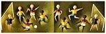Quadro Pintura Artística 115 - Álvaro Borges Filho acrílica sobre tela 30 X 100 Futebol s/ moldura - Imagem 1
