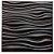 Placa  Decorativa Pvc Adesivada Dark INREDA Premium Preto Fosco 50x50cm   - Imagem 1