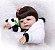 Bebê Reborn 100% Silicone, menina, pandinha, 57cm - Imagem 4