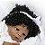 Bebê reborn menina negra 100% silicone  58cm - Imagem 6